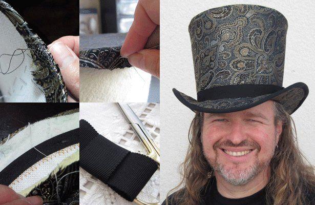 katie vardijan on millinery 101 making a top hat part 2 h te kopfbedeckungen und m tze. Black Bedroom Furniture Sets. Home Design Ideas