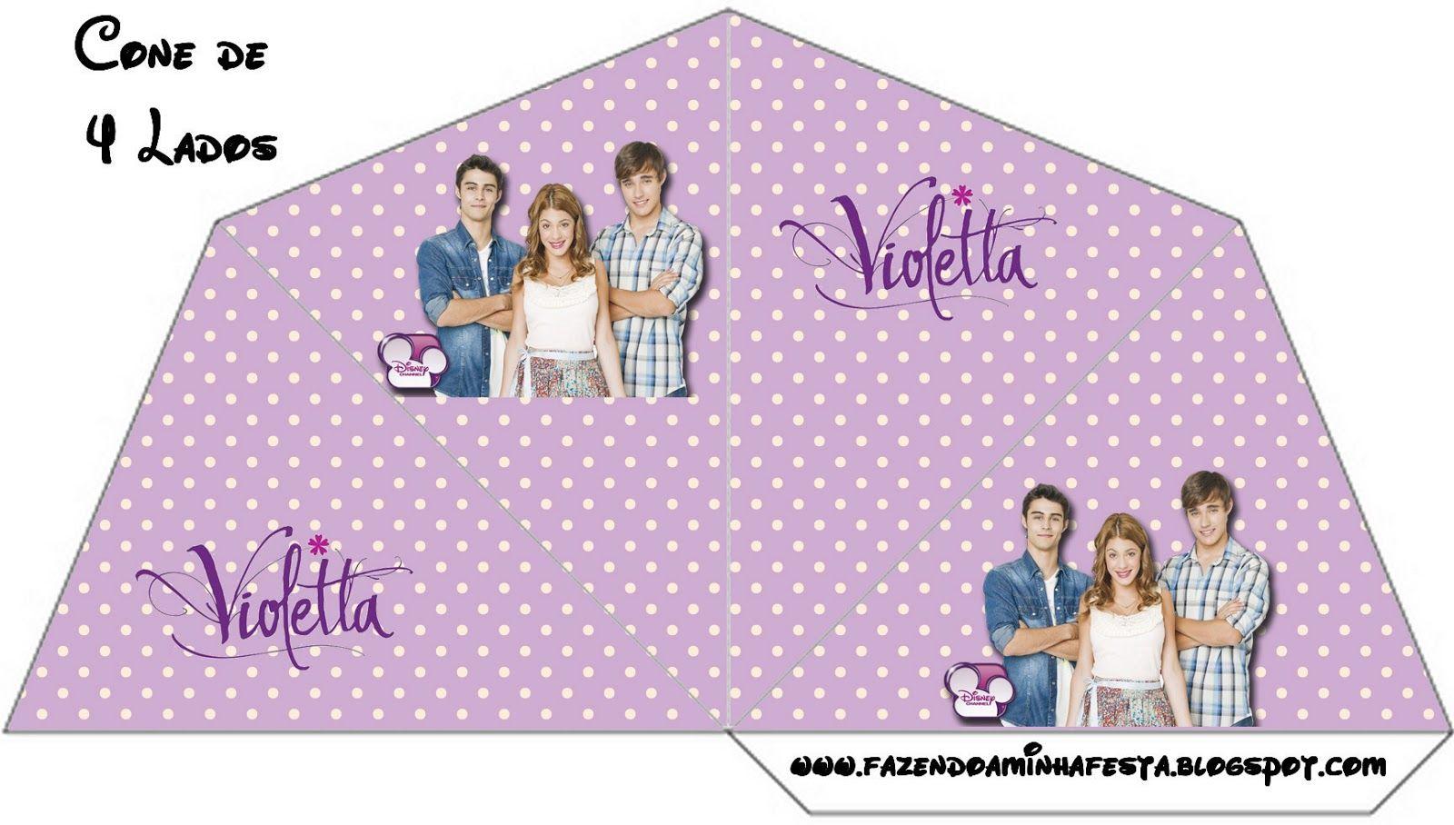 Violetta: Cajas para imprimir gratis. | Ideas y material gratis para fiestas y celebraciones Oh My Fiesta!