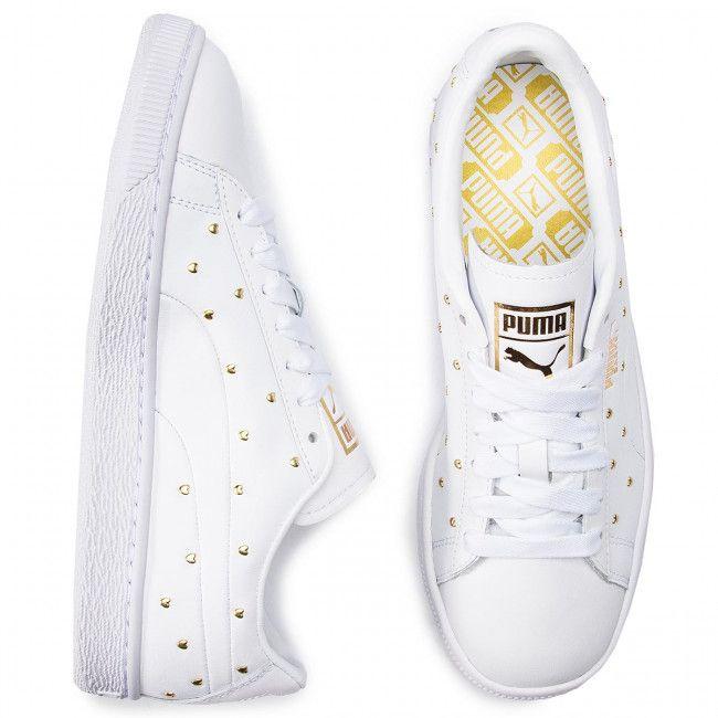 Sneakersy Puma 369298 01 Puma White Puma Team Gold Sneakersy Polbuty Damskie Www Eobuwie Com Pl White Sneaker Sneakers Puma