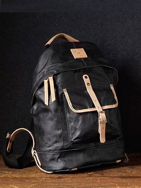 Wax Canvas Some Backpack-Black from Will Leather Goods  at The Blues Jean Bar