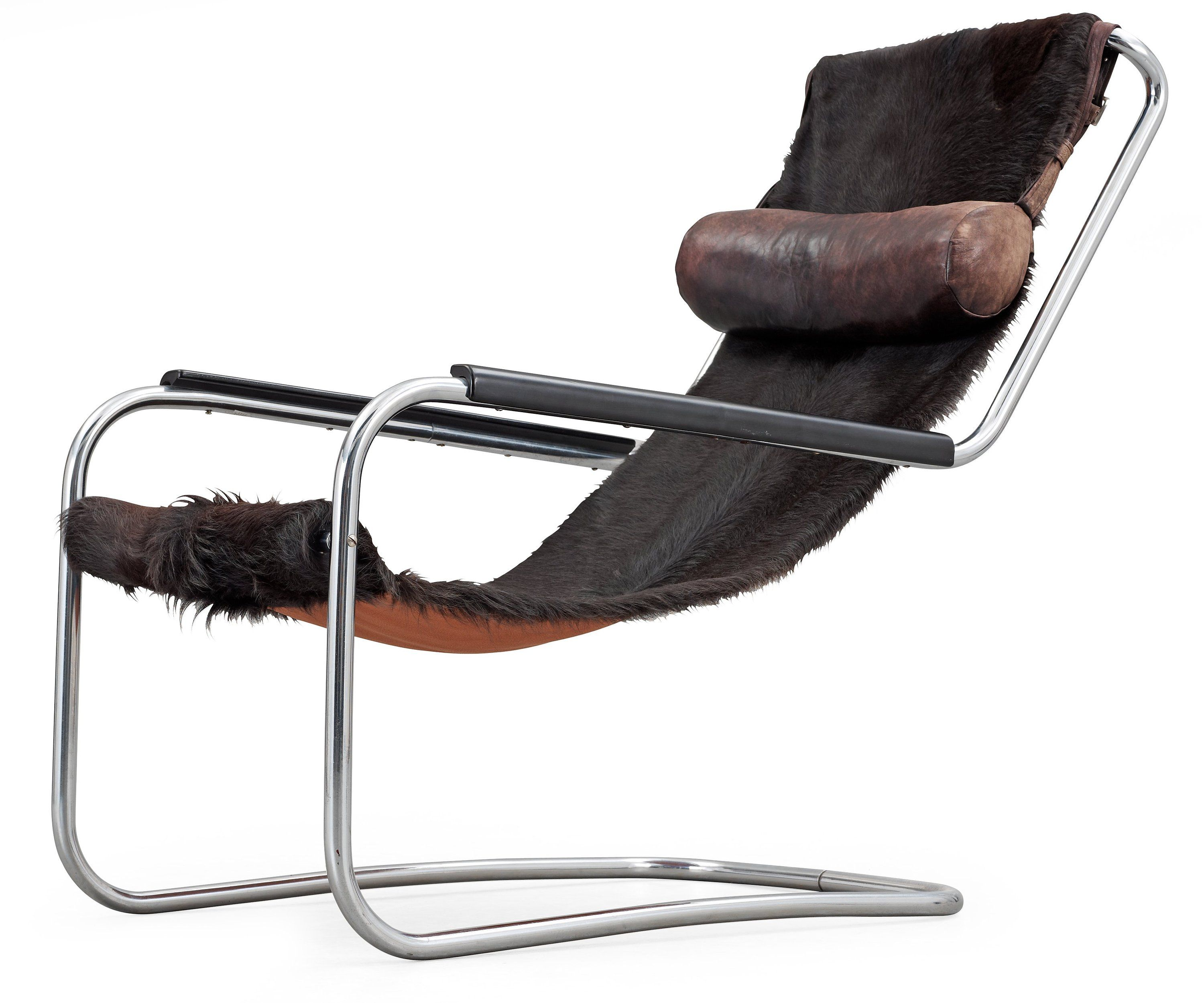 Hans & Vassili Luckhardt Or Anton Lorenz, Chrome And Cowhide