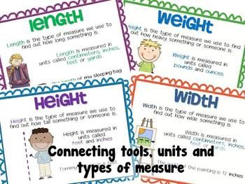 Measurement Task Cards Connecting Tools Units And Types Of