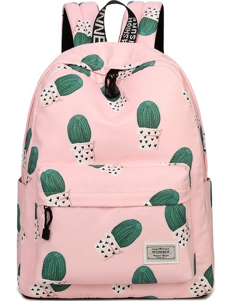 1ee93d0268 School Bookbag for Girls Cute Cactus Water Resistant Laptop Backpack  College Bags Women Travel Daypack