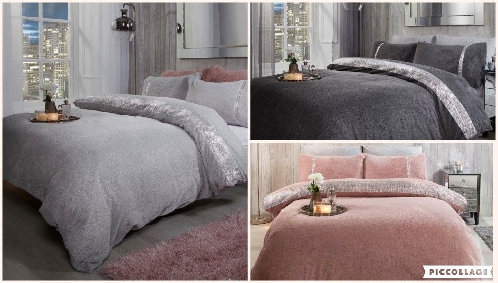 This #duvetset is made from super soft touch polyester with a #diamanteeffect feature, making it comfortable and durable with an added warmth. This easy-care #bedlinen will give your #bedroom that modern feel and once washed it has great resistance to wrinkles, fading and shrinkage.  #bedset #teddyduvetset #cosybedrooms #bedroomcomforts #theaccessoryzone
