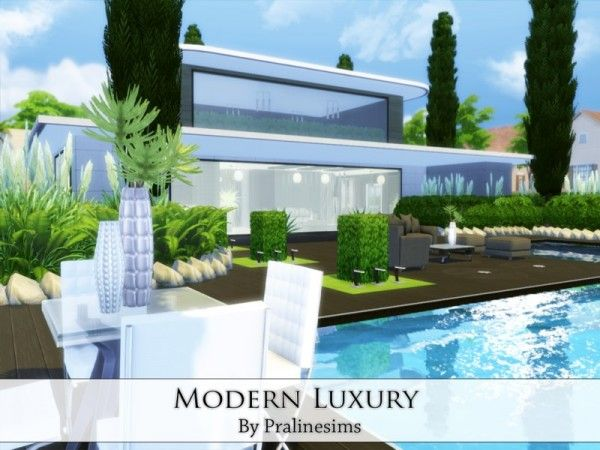 The Sims Resource Modern Luxury house by Praline Sims Sims 4