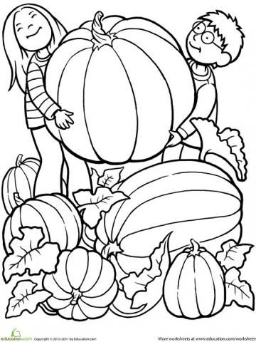 Printable Fall Coloring Pages | Kindergarten, Activities and Craft