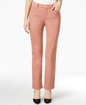 3aedf839 Lee Platinum Petite Gwen Colored Wash Straight-Leg Jeans, Only At Macy's -  Pink 16P