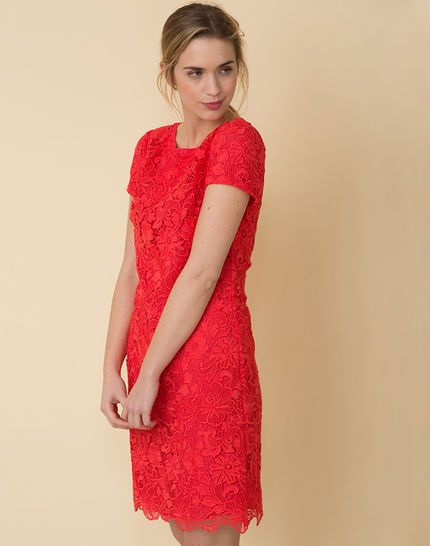 Robe rouge dentelle paris