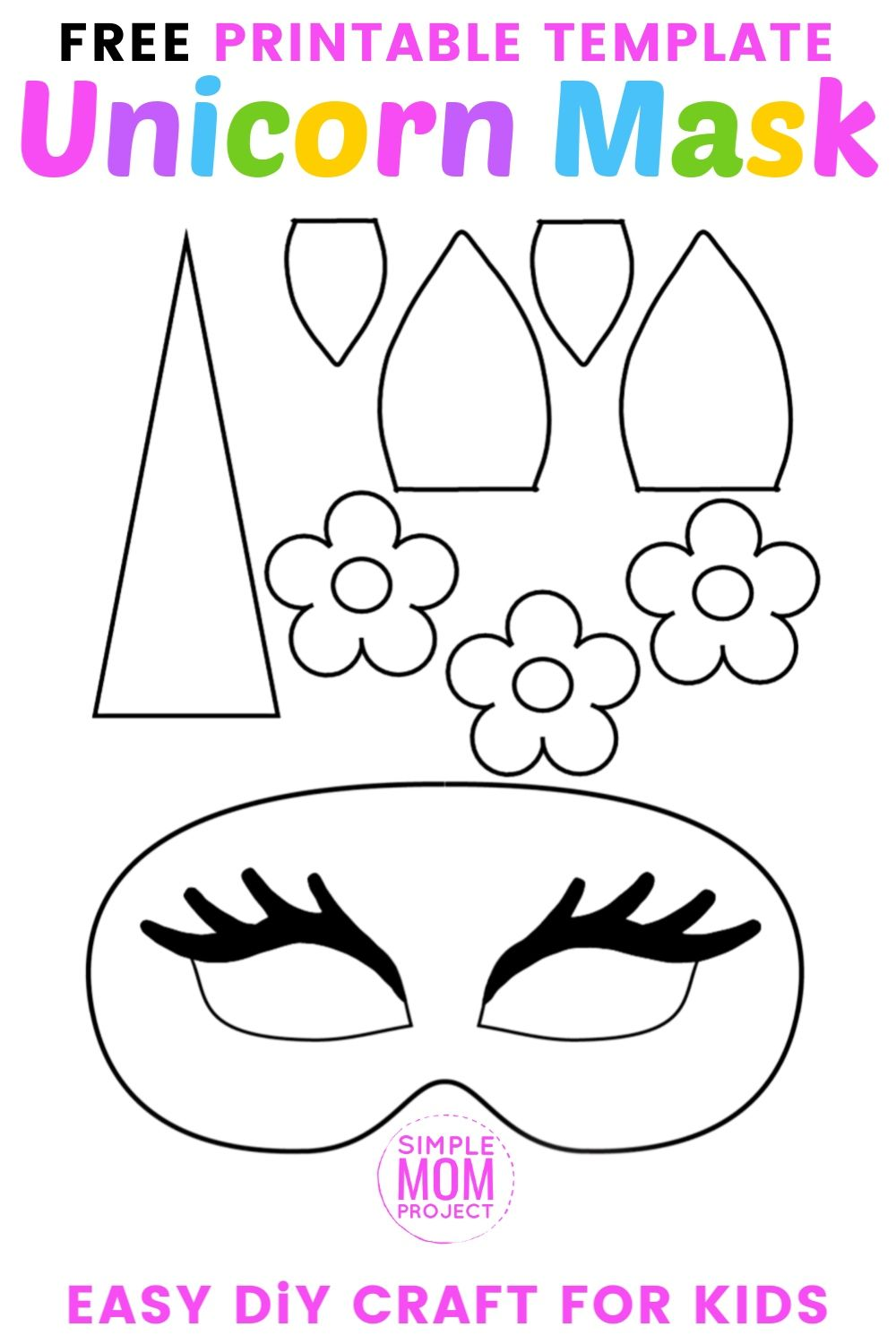 It is a picture of Printable Unicorn Mask regarding design