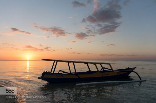 Chilling boat.jpg by Cyril_Photography  indonésie beach boat ile indonesia landscape mer paysage sea seascape soft colors stunning sunset to