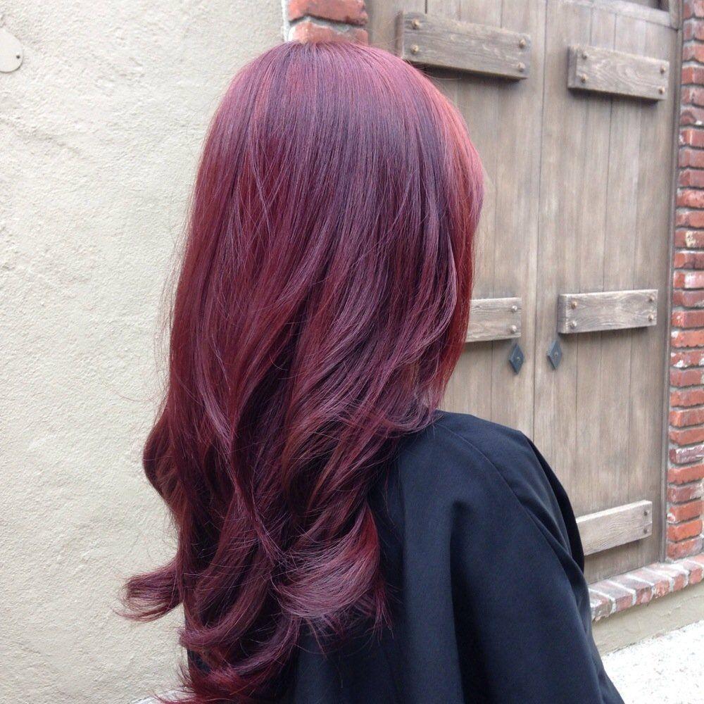 Eggplant Highlights For Dark Hair Google Search Violet