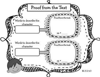 Character Traits Graphic Organizers for Analyzing