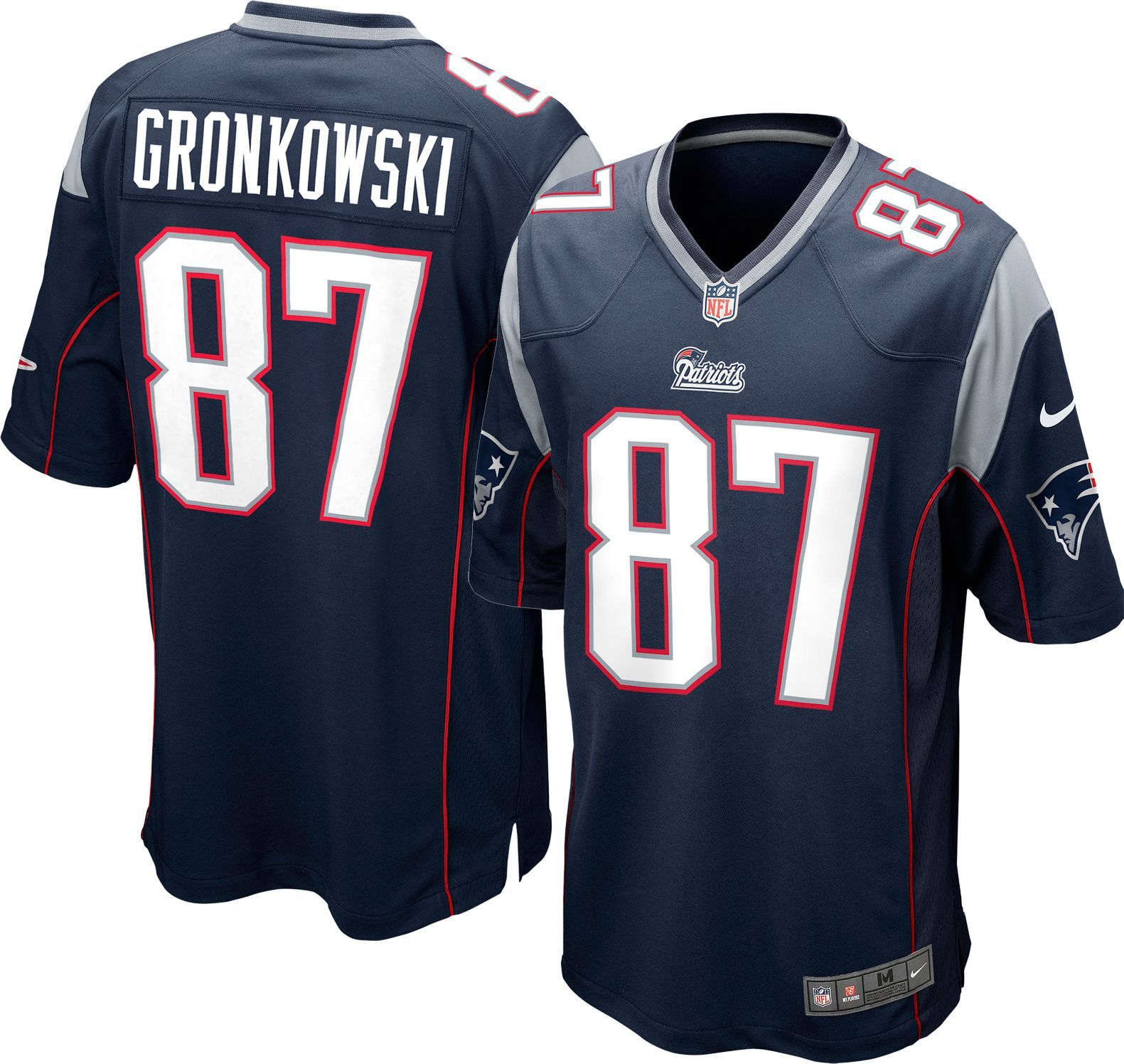 bd53568fe Nike Youth Home Game Jersey New England Patriots Rob Gronkowski  87 ...