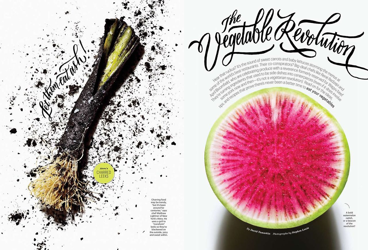 THE VEGETABLE REVOLUTION August 2013 design by Tim McSweeney, lettering by Molly Jacques