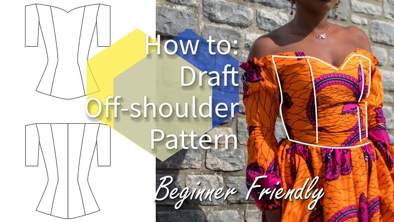 HOW TO DRAFT OFF-SHOULDER BODICE PATTERN | REQUEST WEDNESDAY #4