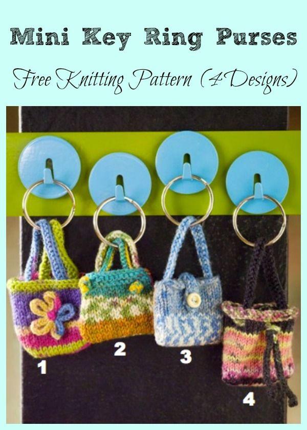 Mini Key Ring Purses Free Knitting Pattern #Knittting #Freepattern ...
