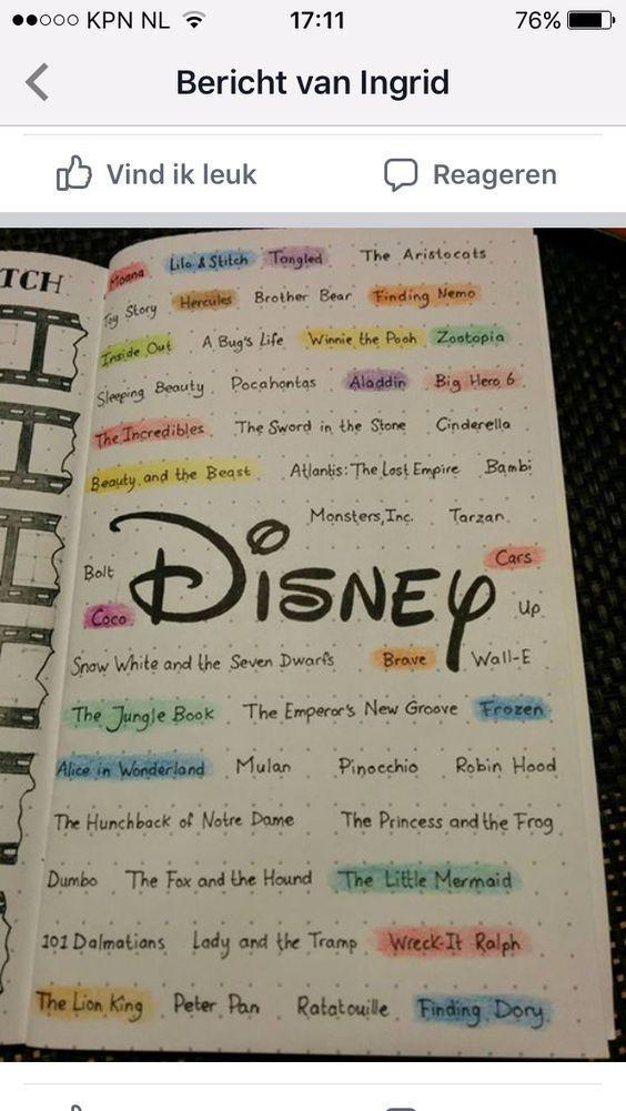 20 Förtrollande Disney Bullet Journal sprider och idéer för att gnista din fantasi - den spar...