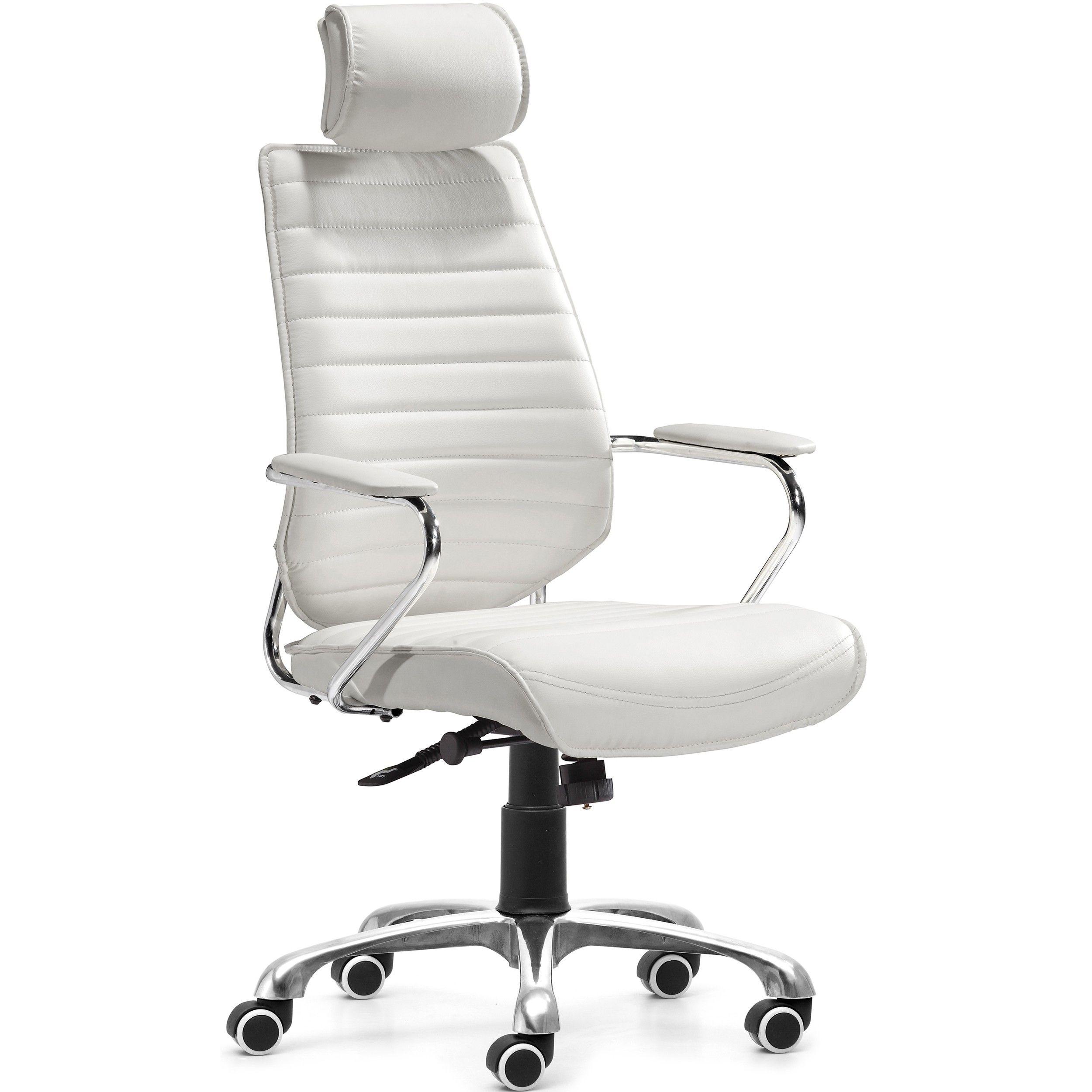 Enterprise high back office chair white 20900 high