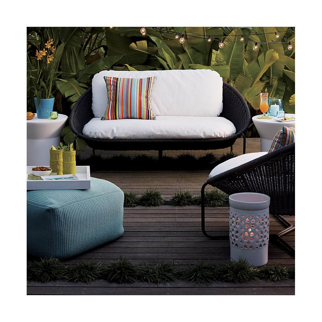 Morocco charcoal oval loveseat with cushion moroccooutdoorlngclctnac16 adirondack cushions country house outdoor outdoor lounge