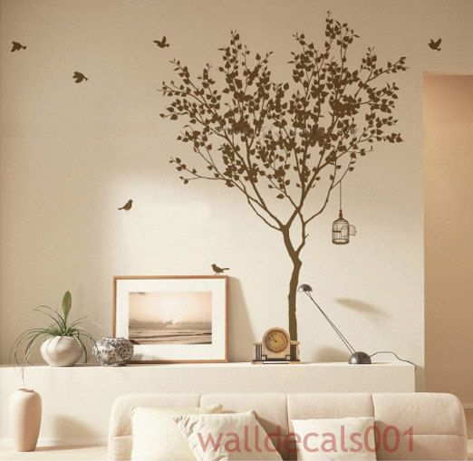I love to bring nature indoors!! Tree Wall Decals Wall stickers ...