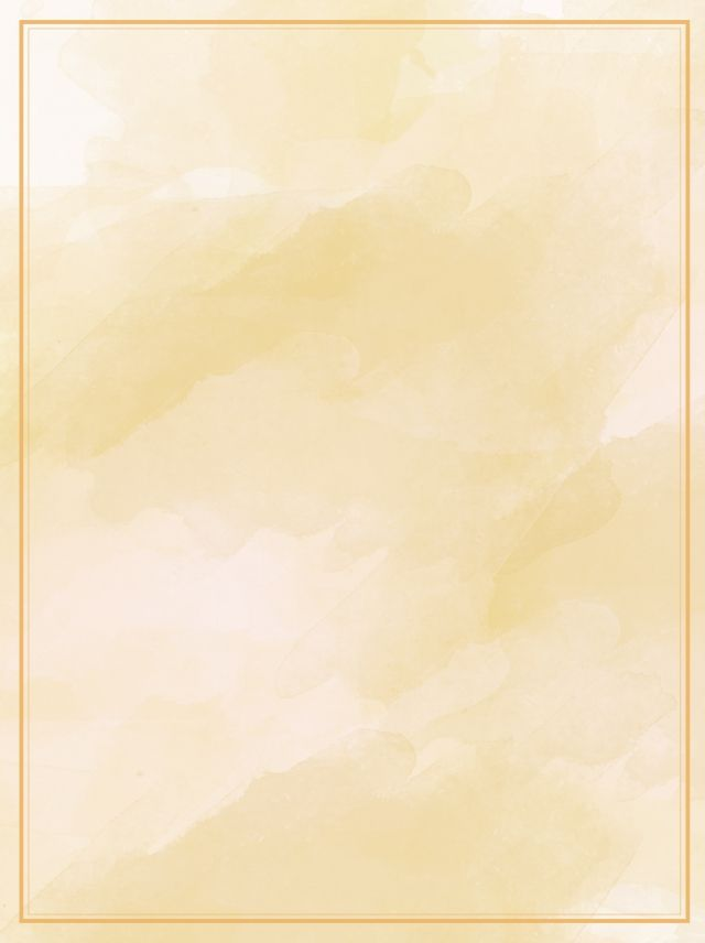 Wild Yellow Gradient Watercolor Poster Background Material