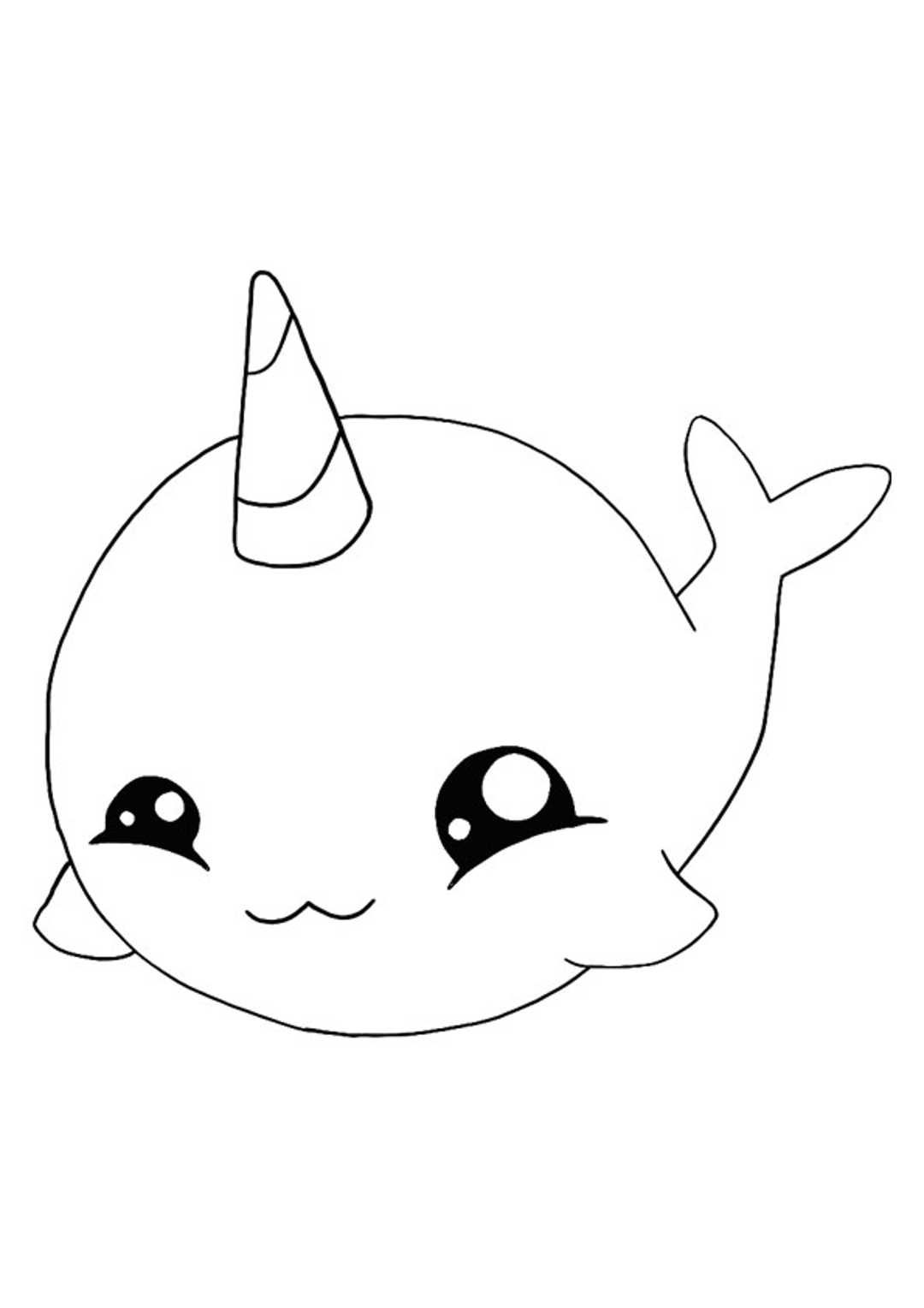 Unicorn Kawaii Coloring Pages : unicorn, kawaii, coloring, pages, Kawaii, Unicorn, Coloring, Pages,, Mermaid, Emoji, Pages
