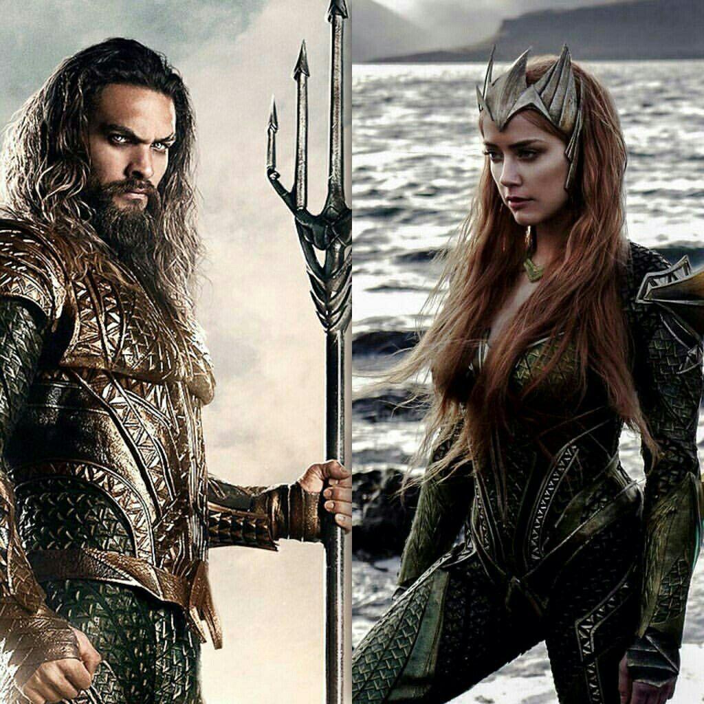 Aquaman Jason Momoa Mera Aquaman S Wifey Amber Heard: Aquaman & Mera- DCEU …