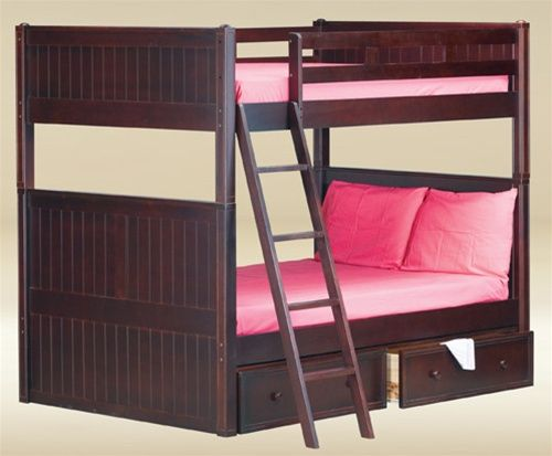 Best Leon Extendable Twin Bunk Bed With Storage Full Bunk 400 x 300