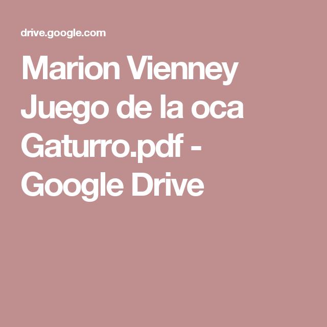 Marion Vienney Juego De La Oca Gaturro Pdf Google Drive Espanol