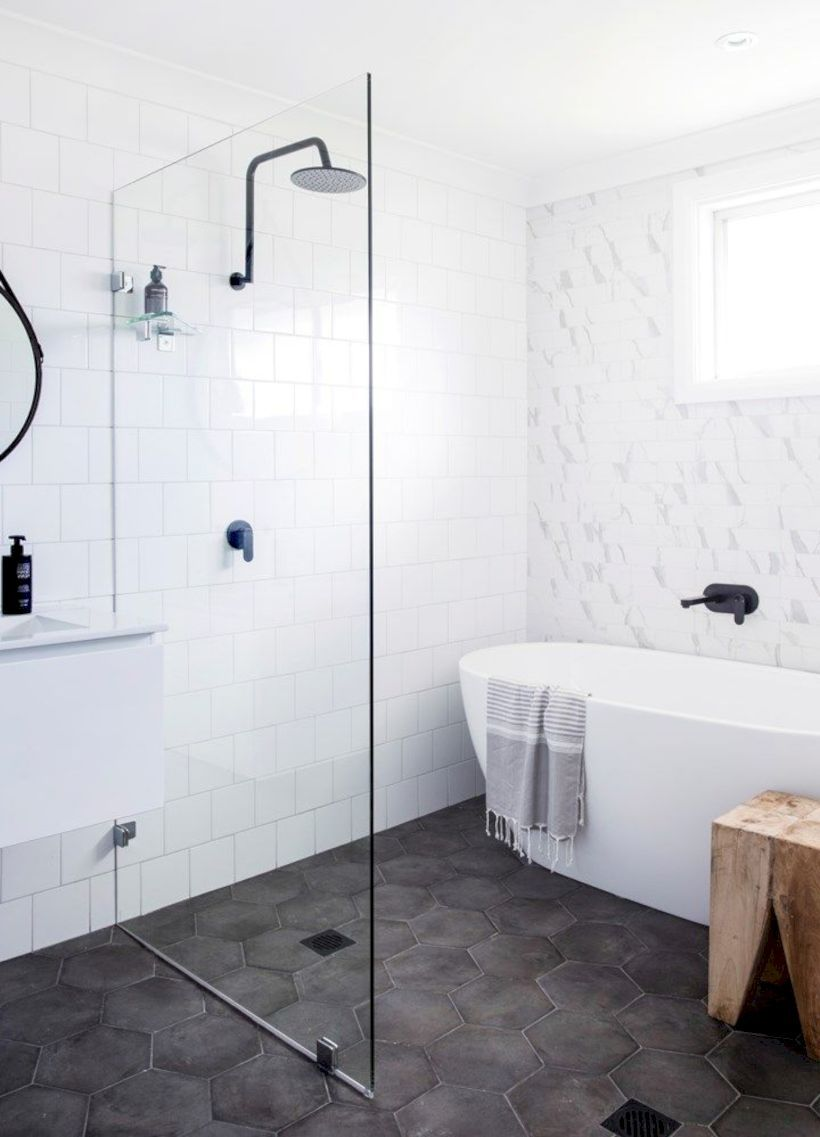 43 Stand Up Shower Design Ideas to Copy Right Now | Floating vanity ...