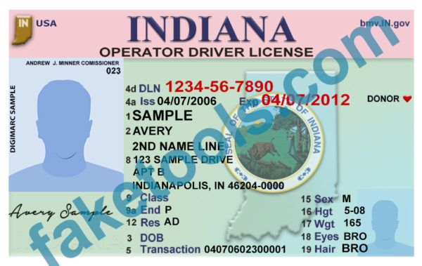 indiana driver license psd template in 2019