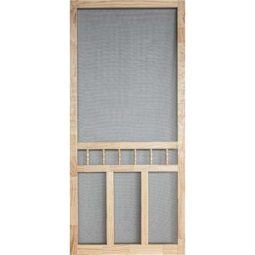 36 In X 80 In Wood Classic Screen Door Screen Door Diy Screen Door Screen Door Hardware