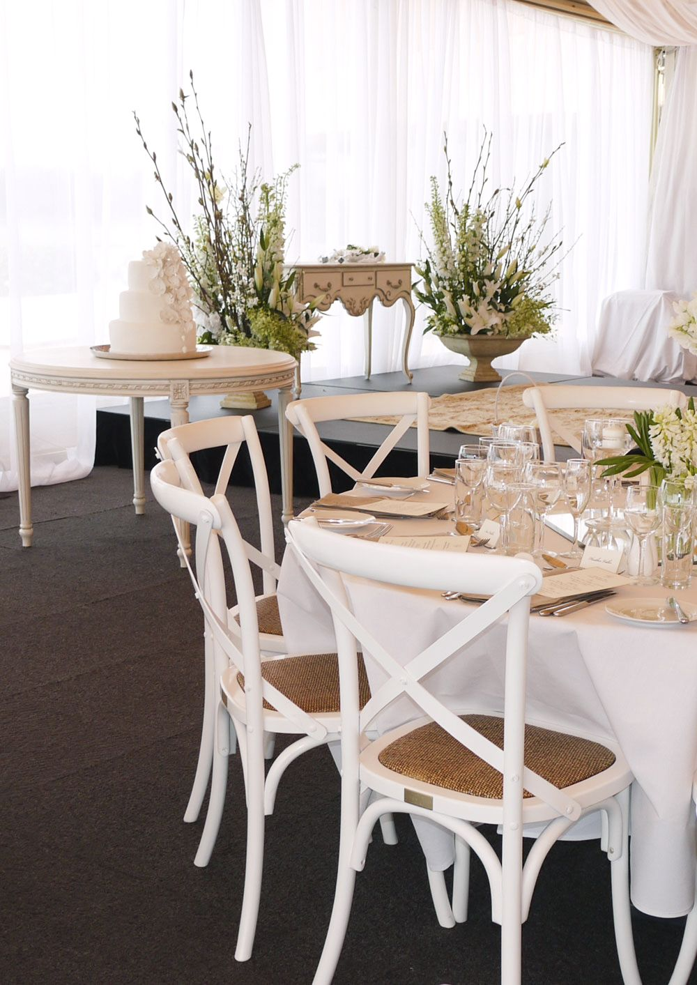 French Provincial Style Wedding   Country Crossback Chairs And Louis XVI  Table   French Provincial Style In Sydney, Australia