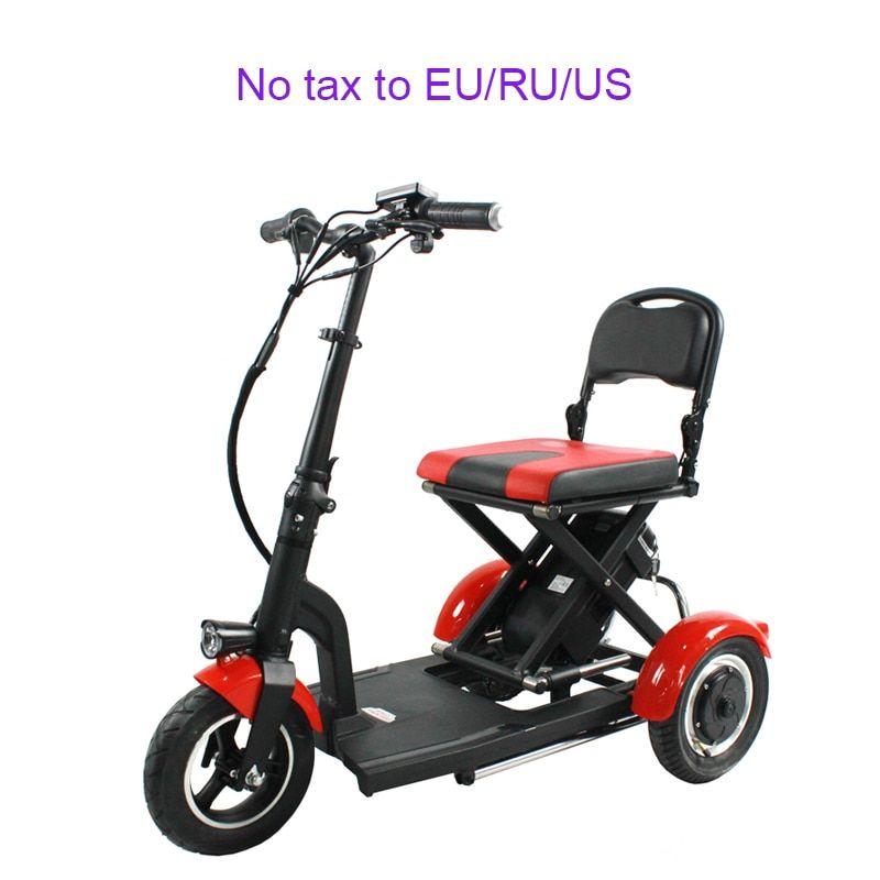 Folding 3wheel Elderly Electric Bike 3 Speed Ultra Light Portable