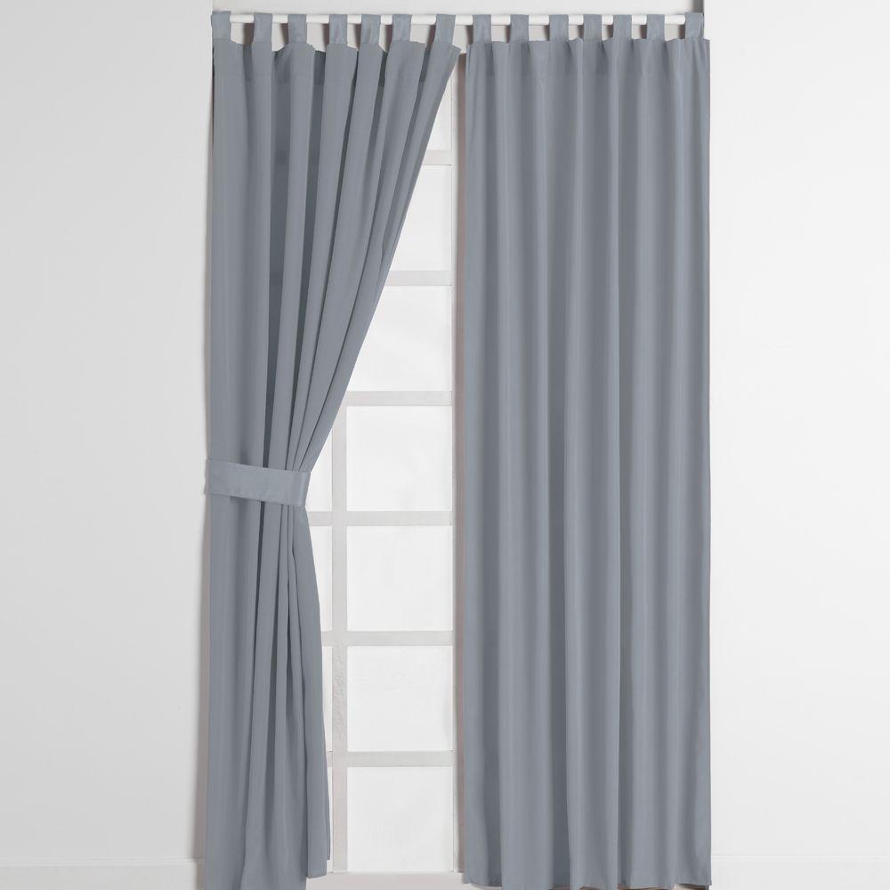 Cortina alegro gris recamara sala cortinas hogar for Cortinas grises