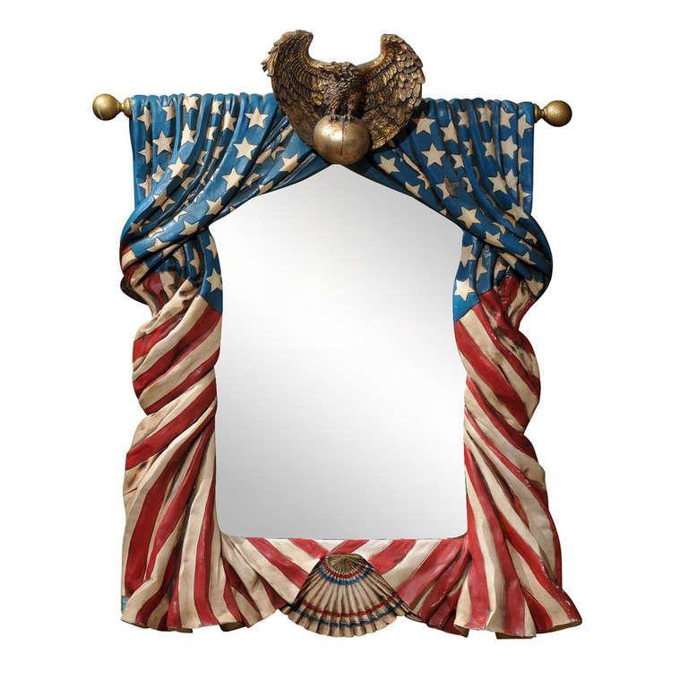 American Flag Mirror Americana Framed American Flag
