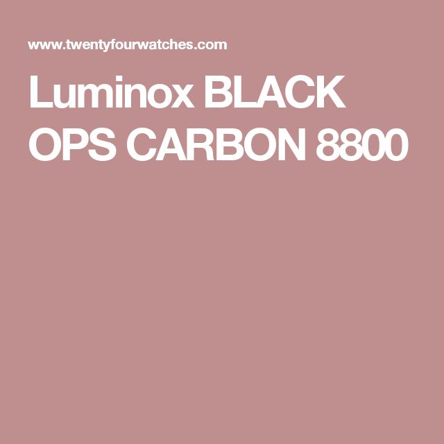 Luminox BLACK OPS CARBON 8800