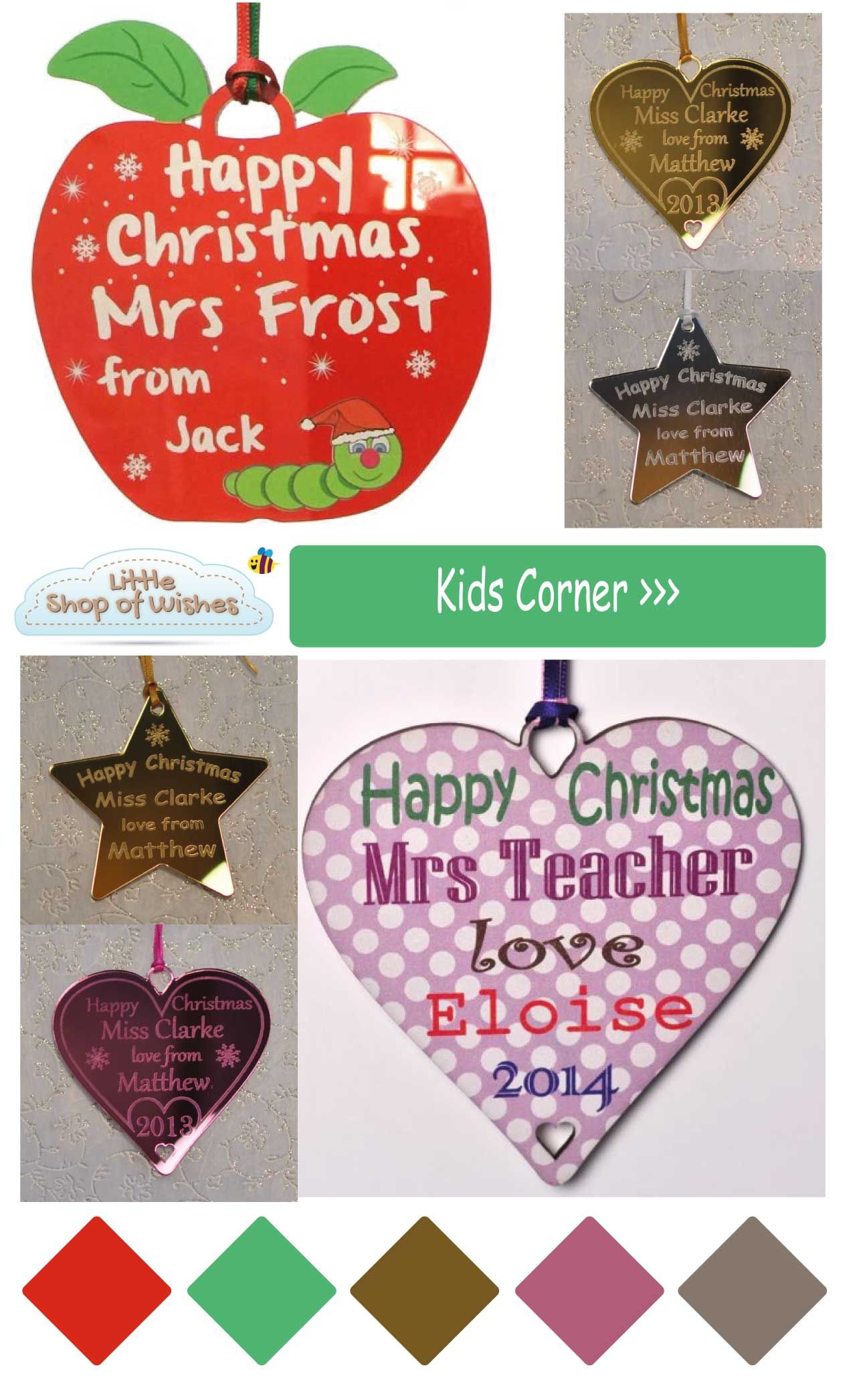 Personalised Teacher Gift Christmas Ideas For Your Children This Year