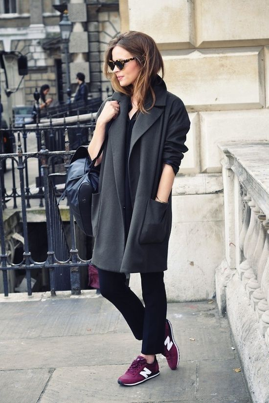 coats that go with trainers