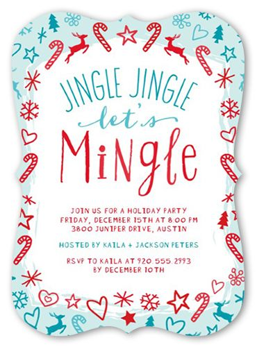 Holiday Party Invitations Jingle Jingle Mingle Holiday Invitation