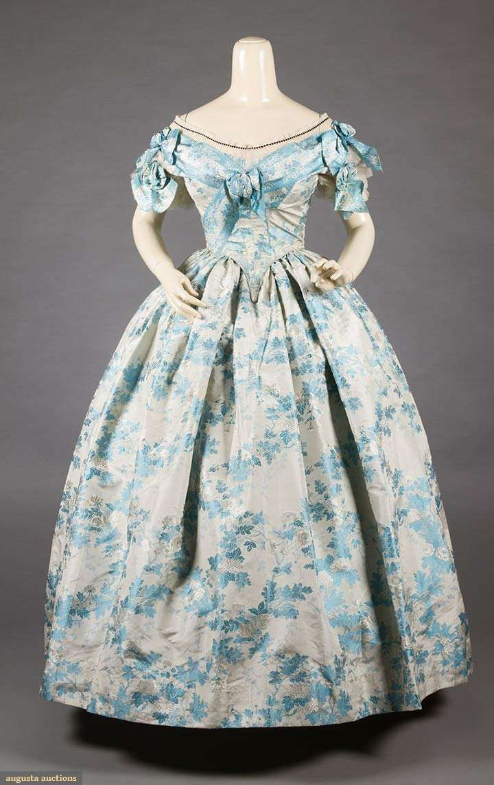 Sky blue brocade ball gown s go back october nyc new