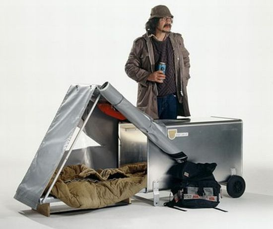 Urban Nomads Instant Housing Shelters For The Homeless And Other Solutions Homeless Shelter Design Urban Camping Shelter Design