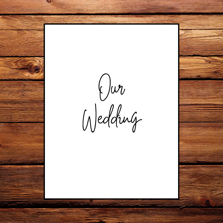 Printable Wedding Planning Binder