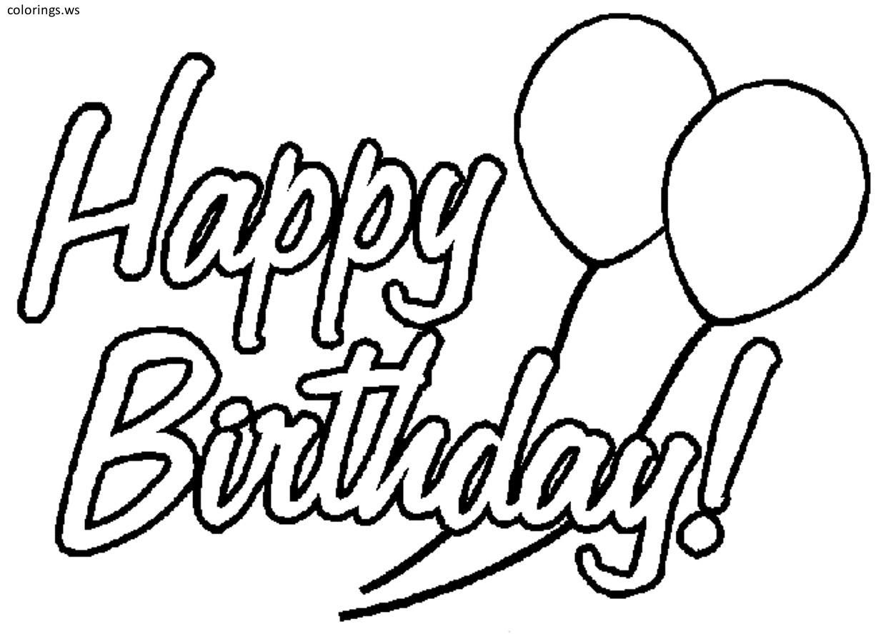Happy Birthday Logo Coloring Page Happy Birthday Coloring Pages