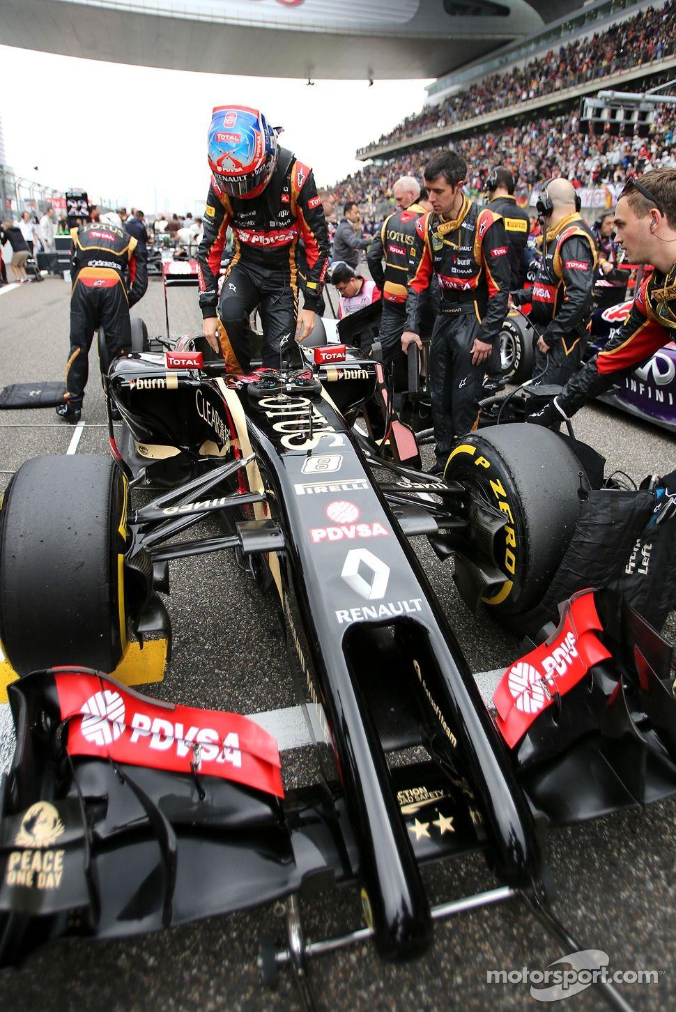 Romain Grosjean Lotus F1 Team Lotus F1 Formula Racing Chinese Grand Prix