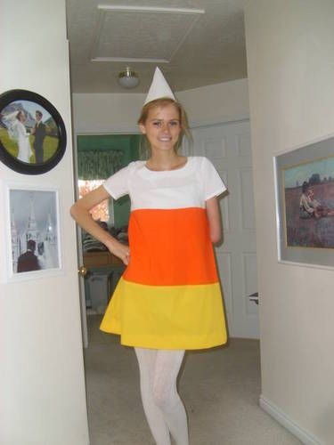 Down! Adult candy corn costume halloween