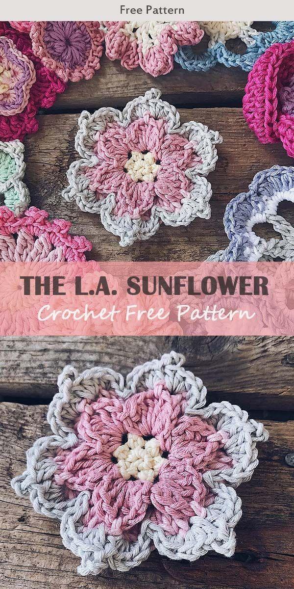 THE L.A. Sunflower Crochet Free Pattern