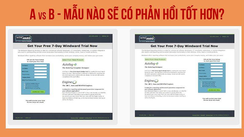 A/B testing: Cách tối ưu tỷ lệ phản hồi điền Form từ Website.  Nguồn CaseStudy:Behave.org