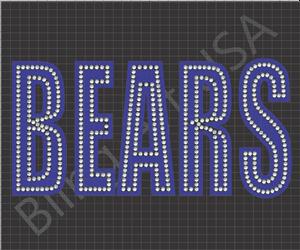 Bears Rhinestone Design Pattern Easy Stone Template File Stencil ...