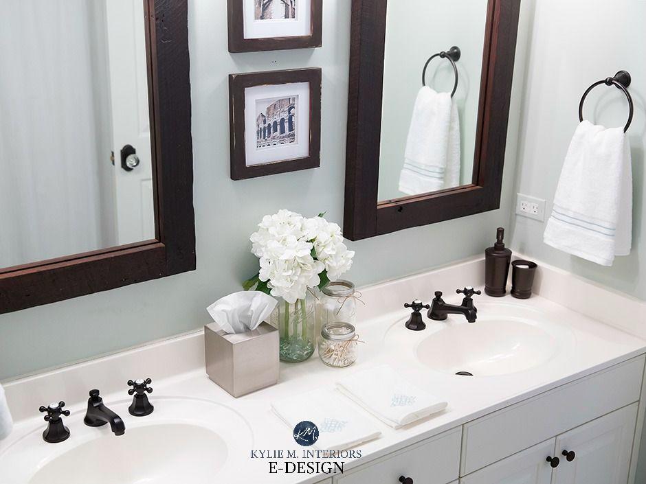 Paint Colour Review Sherwin Williams Sea Salt Undertones And More Bathroom Paint Colors Bathroom Paint Colors Behr Painting Bathroom